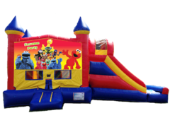 SESAME STREET PARTY Castle Combo Bounce