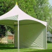 Tent-Solid White Side Wall 20