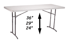 Table- 6ft Adjustable Height