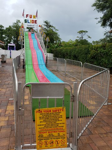 Fiber Glass Fun Slide