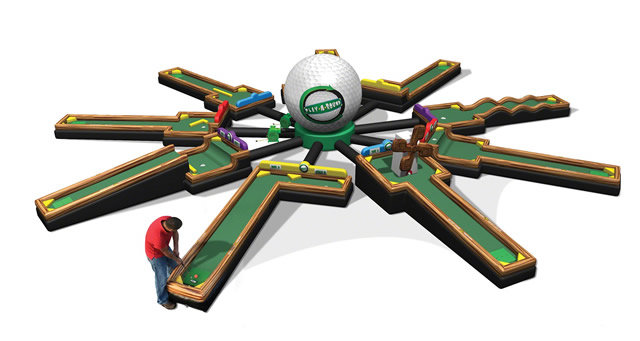 Inflatable 9 Hole Mini Golf