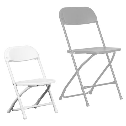 Childrens White Folding Chair