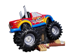 Mayhem Monster Truck Bounce House Combo