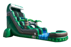Emerald Crush Waterslide With Pool