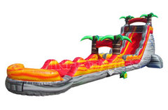 Volcanic Eruption Waterslide with Slip N Slide