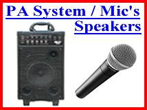 Pa System Rental and Mics