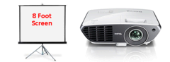 BenQ Projector and 8ft Screen Package