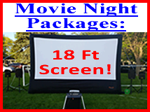 Large Outdoor Movie Night Rental