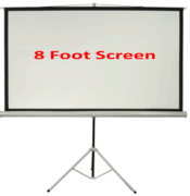 USED Projection Screen, 7 by 7 Foot FOR SALE