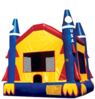 Priority 1 Party Rental Rocket Bounce House