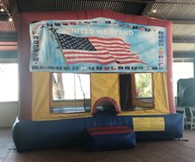 Flag Velcro Bounce House