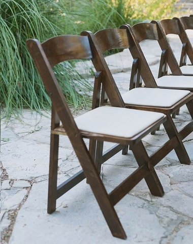 Padded Fruitwood Folding Chair
