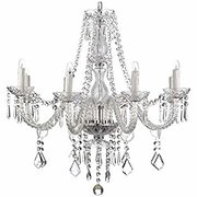 Chandelier  Clear 8 Arm