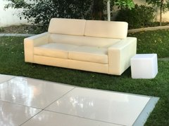 Love Seat White Leather