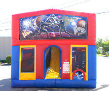 Star Defender Enclosed Obstacle Course w/center slide