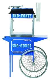 Sno Cone Machine with Cart