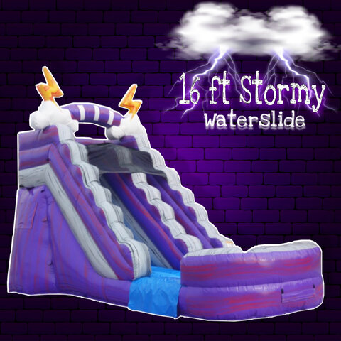 16 ft Stormy Waterslide with XL Pool