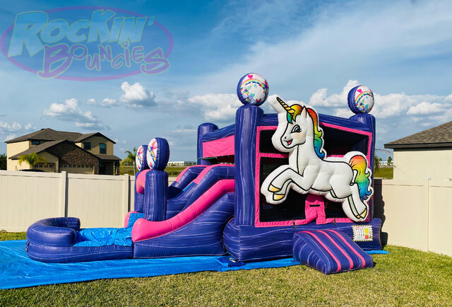 3D Unicorn Combo with Pool -  New