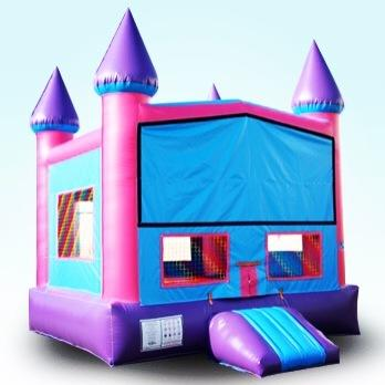 2 in 1 Pink Castle with basketball hoop