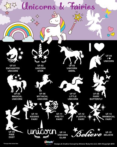 Glitter Tattoo Artist- Unicorn & Fairies Collection