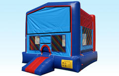 2 in 1 Blue and Red  Bounce House