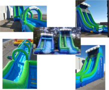 24FT GIANT TIDAL WAVE SLIDE WITH SLIP AND SLIDE