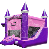 Pink Castle 6 in 1 bounce house