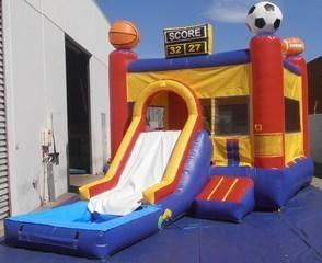Sports Jump with slide and pool