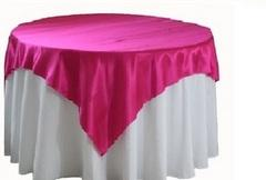 60inX60in OVERLAY SATIN (HOT PINK)