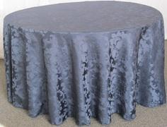 BEETHOVEN DAMASK 132in ROUND (NAVY)