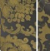 DAMASK BEETHOVEN 54inx120in RECT. (BLACK/GOLD)