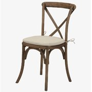 (q) CROSSBACK CHAIR DRIFTING ANTIQUE