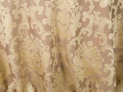 (i)BEETHOVEN DAMASK 90in ROUND (CAMEL)