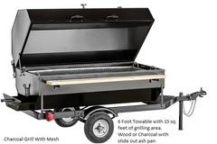 TOW BEHIND CHARCOAL SMOOKER/GRILL