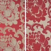 (i)BEETHOVEN DAMASK 90in ROUND (CRIMSON)