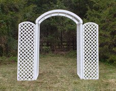 White Wedding Garden Arch