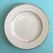 (h) CHINA- (IVORY GOLD BAND DINNER PLATE) 10.5IN