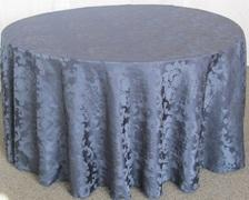 BEETHOVEN DAMASK 120in ROUND (NAVY)