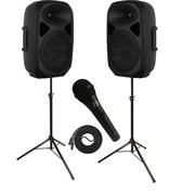 (A1) 2 WAY HIGH POWER SPEAKER SYS.WITH WIRELES MIC