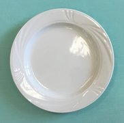 ((a) CHINA- ARCADIA WHITE (DINNER PLATE 10.5in)