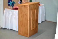 (A1) WOOD PODIUM (NON-POWER JUST STAND)