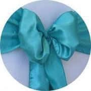 SATIN SASH (TEAL)