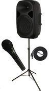 (A1) 2 WAY BATTERY POWER SINGLE SPEAKER SYSTEM WITH WIRELESS MIC.