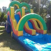 Double 16ft Slide w large pool