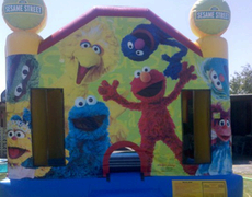 Seasame Street Bounce House