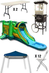 Discounted Party Package 4 - Water Slide Combos