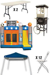 Discounted Party Package 2 - 16 X 18 Combo Bouncers