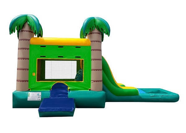 Green Tropical Combo Water Slide