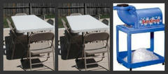2 Tables 12 Chairs Snowcone machine with 50 servings