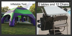 Inflatable Tent 2 tables 12 chairs Special